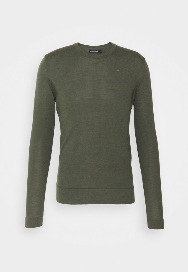 CREW NECK - Sweter - lake green melange