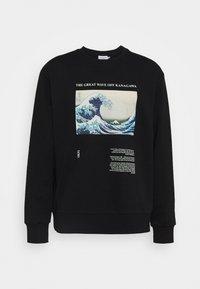 Topman - WAVE - Sweatshirt - black - 3