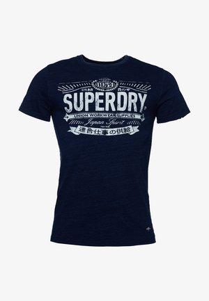 VINTAGE INDIGO  - T-Shirt print - mottled royal blue