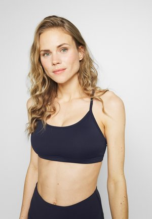 WORKOUT YOGA CROP - Light support sports bra - navy