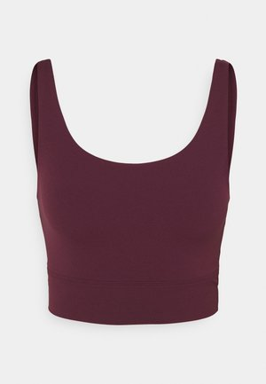 YOGA LUXE CROP TANK - Sportshirt - night maroon/team red