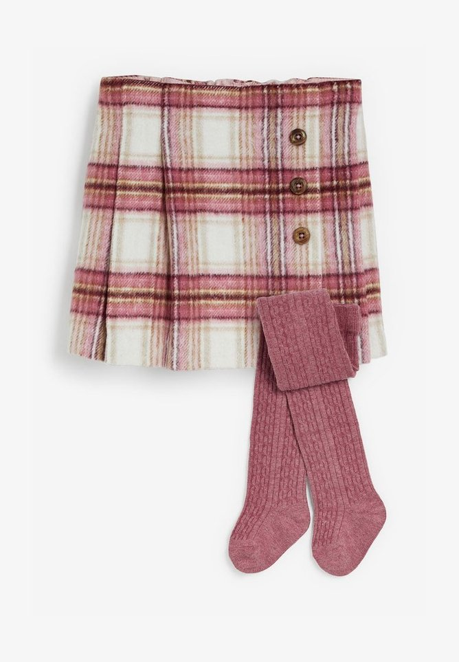 Next - KILT WITH TIGHTS SET - Mini skirt - pink
