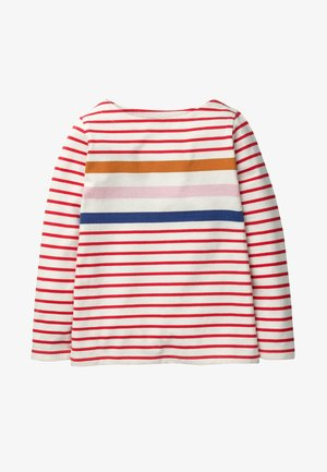 Long sleeved top - red/colored,striped