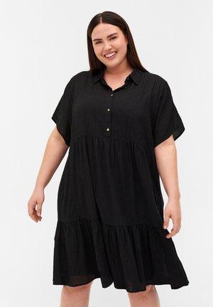 STRIBET  - Shirt dress - black