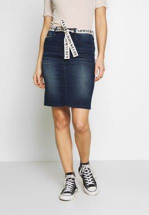 SKIRT - Denim skirt - dark stone wash denim/blue