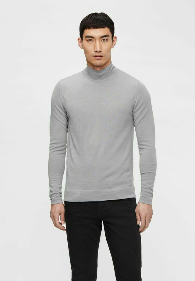 NEAL TURTLENECK - Sweter - lt grey melange