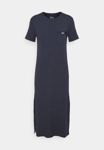 MANALI DRESS - Shirt dress - metallic blue