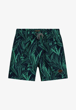 SCRATCHED LEAVES - Swimming shorts - pappagallo