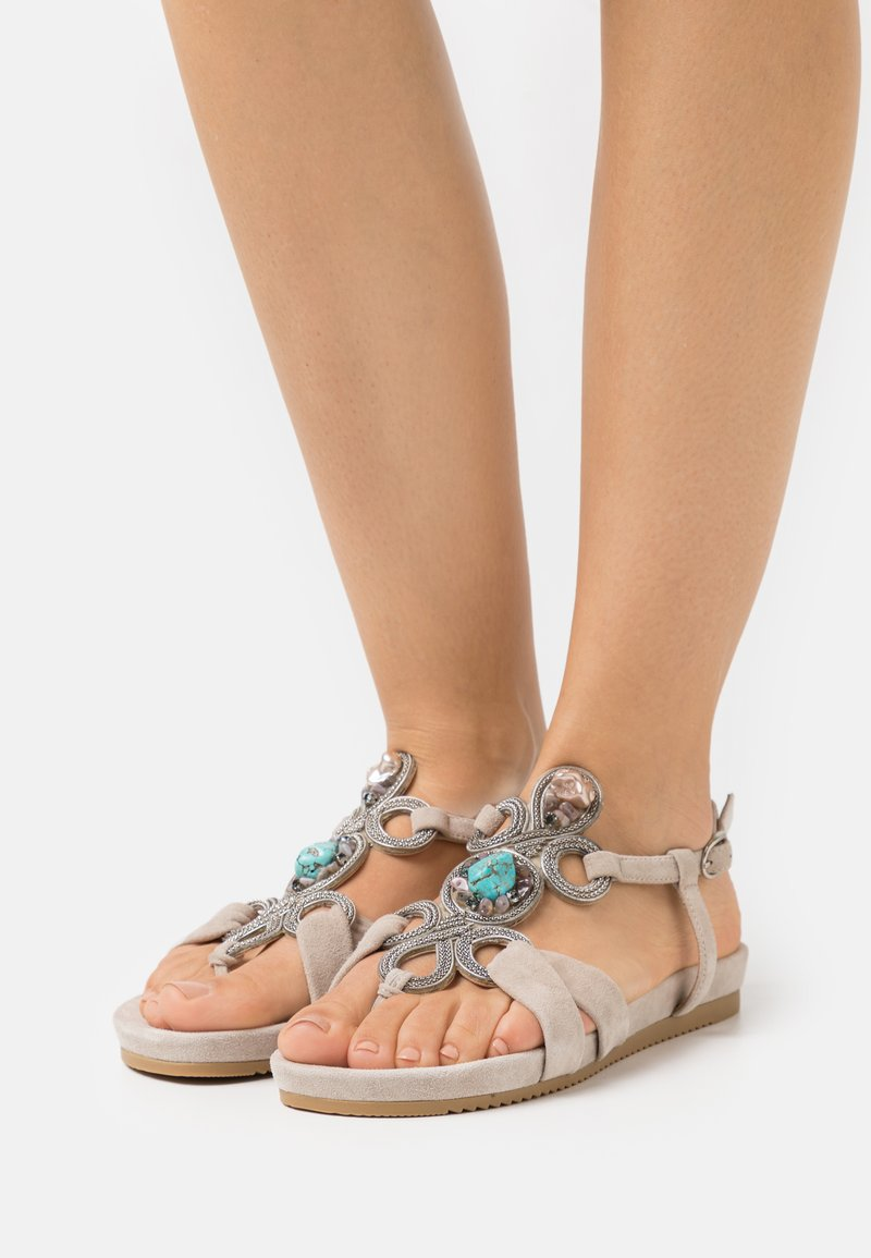 Alma en Pena - T-bar sandals - taupe
