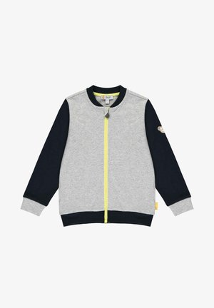 Zip-up hoodie - soft grey melange