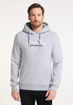 Hoodie - hellgrau melange