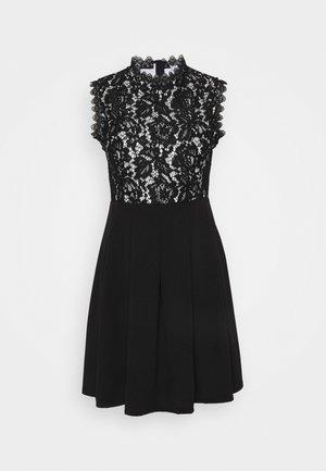 SKATER DRESS - Korte jurk - black/white