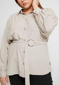 River Island Plus - Button-down blouse - mink - 3