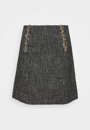 TALIE - Mini skirt - noir/blanc