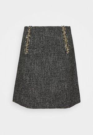TALIE - Mini skirts  - noir/blanc