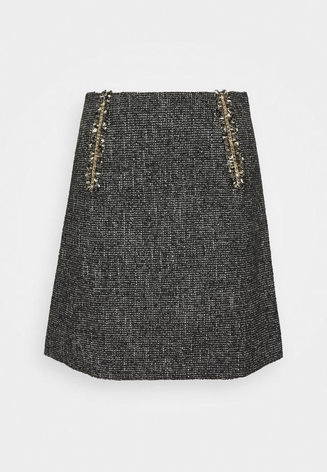 TALIE - Mini skirt - noir/blanc