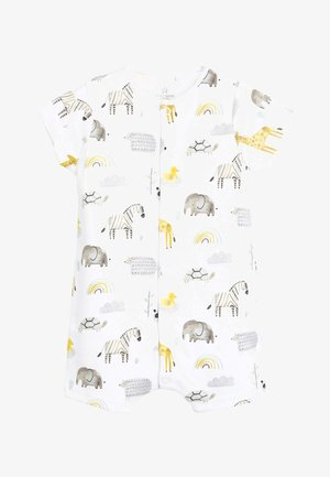 3 PACK GOTS ORGANIC COTTON ANIMAL ROMPERS - Jumpsuit - white