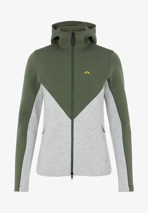 CRYSTAL CHEVRON - Zip-up hoodie - stone grey melange