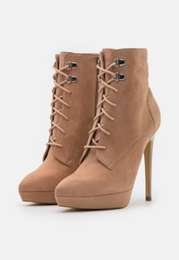 Even&Odd - LEATHER - High heeled ankle boots - sand - 2
