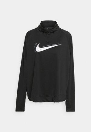 RUN PLUS - Long sleeved top - black/white