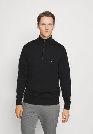ZIP MOCK - Stickad tröja - black