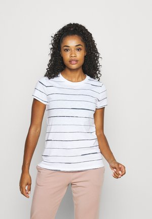 ORGANIC DAILY STRIPED TEE - T-shirt print - aspen white