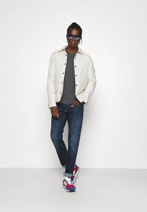 SLIM 2 PACK - Basic T-shirt - gray pinstripe/bright white
