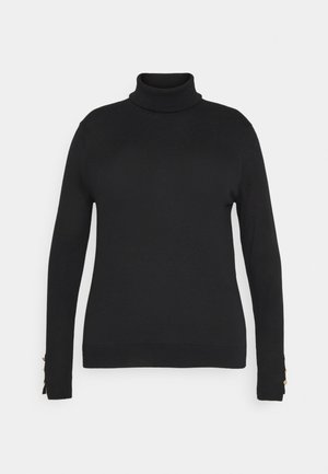 VMMILDA ROLLNECK BUTTON SLIT - Jumper - black
