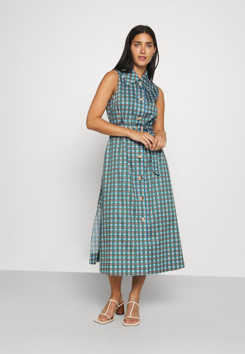 kate spade new york - PLAID DRESS - Shirt dress - blue glow