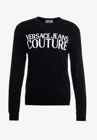 Versace Jeans Couture - Stickad tröja - black - 3