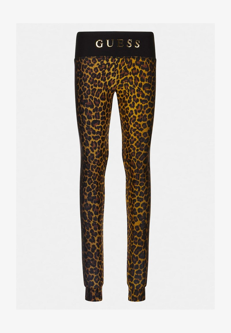 Guess - JUNIOR ACTIVE - Leggings - Trousers - leopard combo