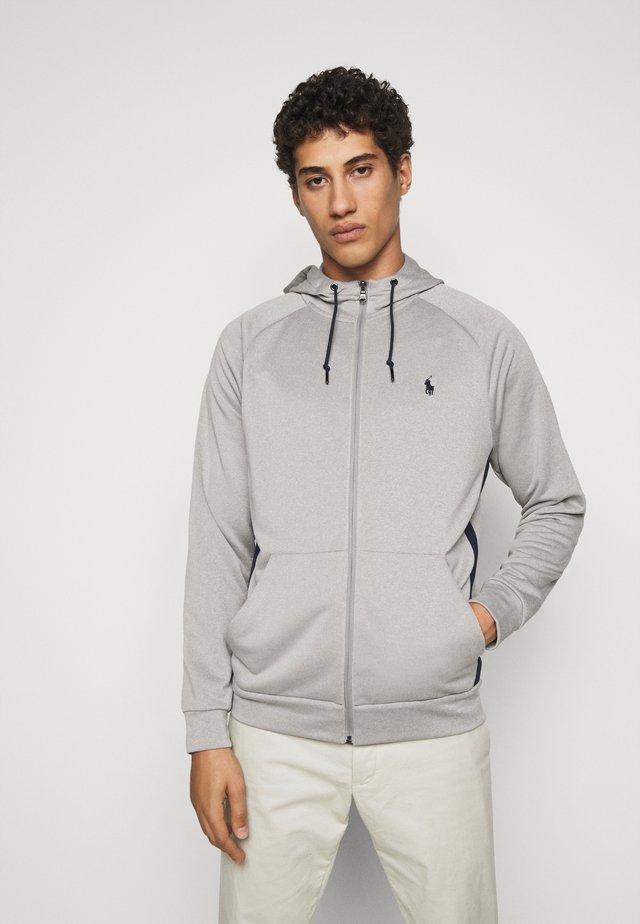 LONG SLEEVE - veste en sweat zippée - andover heather