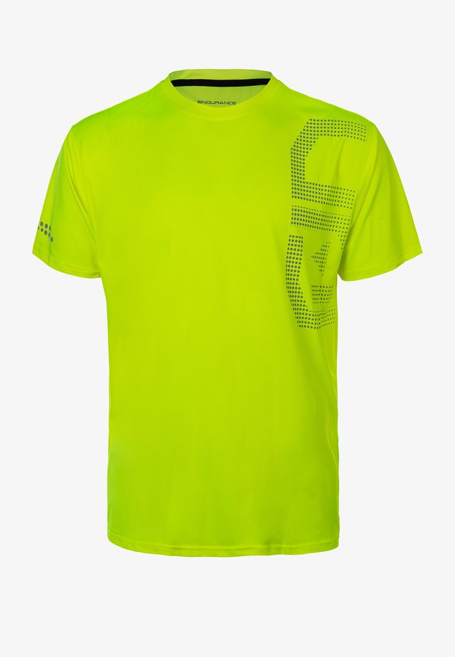EDEL - Sports shirt -  safety yellow