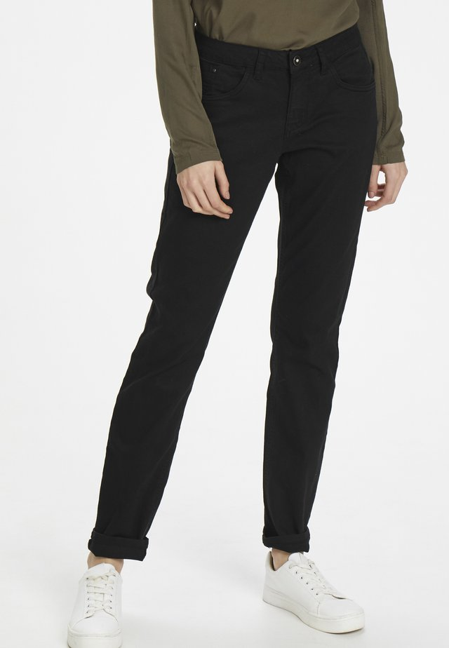 LOTTECR - Slim fit jeans - pitch black