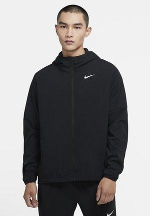 STRIPE - Soft shell jacket - black/black