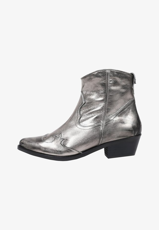 Cowboy-/Bikerlaarsjes - silver