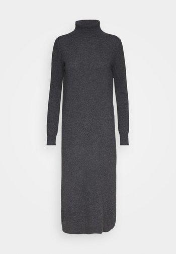 TURTLENECK DRESS - Maxi dress - graphite