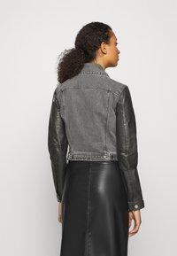 Diesel - LYLE JACKET - Leather jacket - black/grey - 2