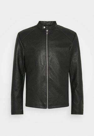 JORCONNOR JACKET - Faux leather jacket - black