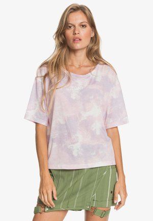 Print T-shirt - orchid petal fly time
