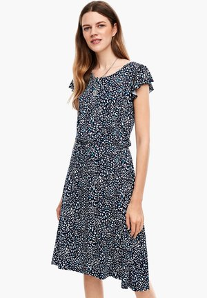 Jersey dress - dark blue aop