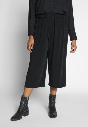 BASIC CULOTTE - Trousers - deep black