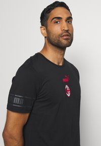 Puma - AC MAILAND CULTURE TEE - Club wear - puma black/tango red - 3