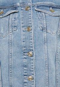 7 for all mankind - MODERN TRUCKER LUXE VINTAGE SKYWALK - Denim jacket - light blue - 2