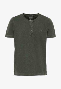 camel active - H-HENLEY 1/2 ARM - Basic T-shirt - green - 0