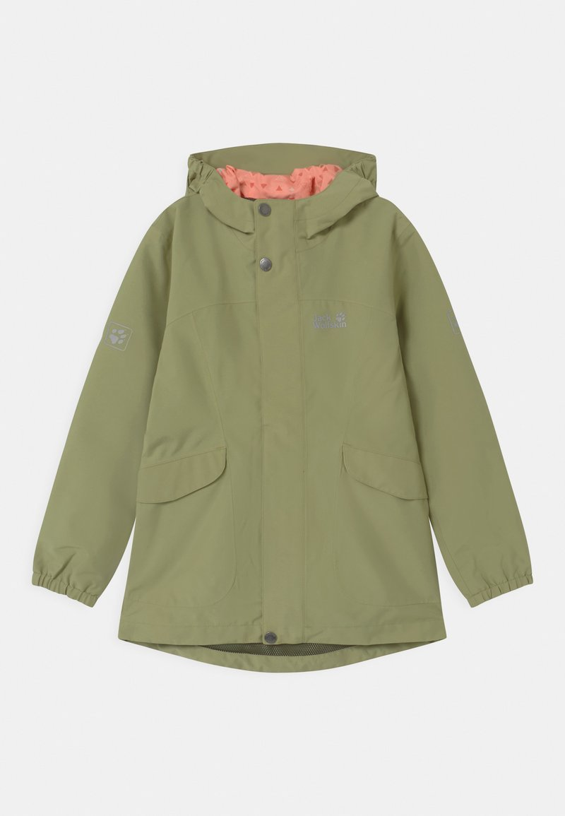 Jack Wolfskin - ROCK TOWN JACKET GIRLS - Outdoorová bunda - khaki
