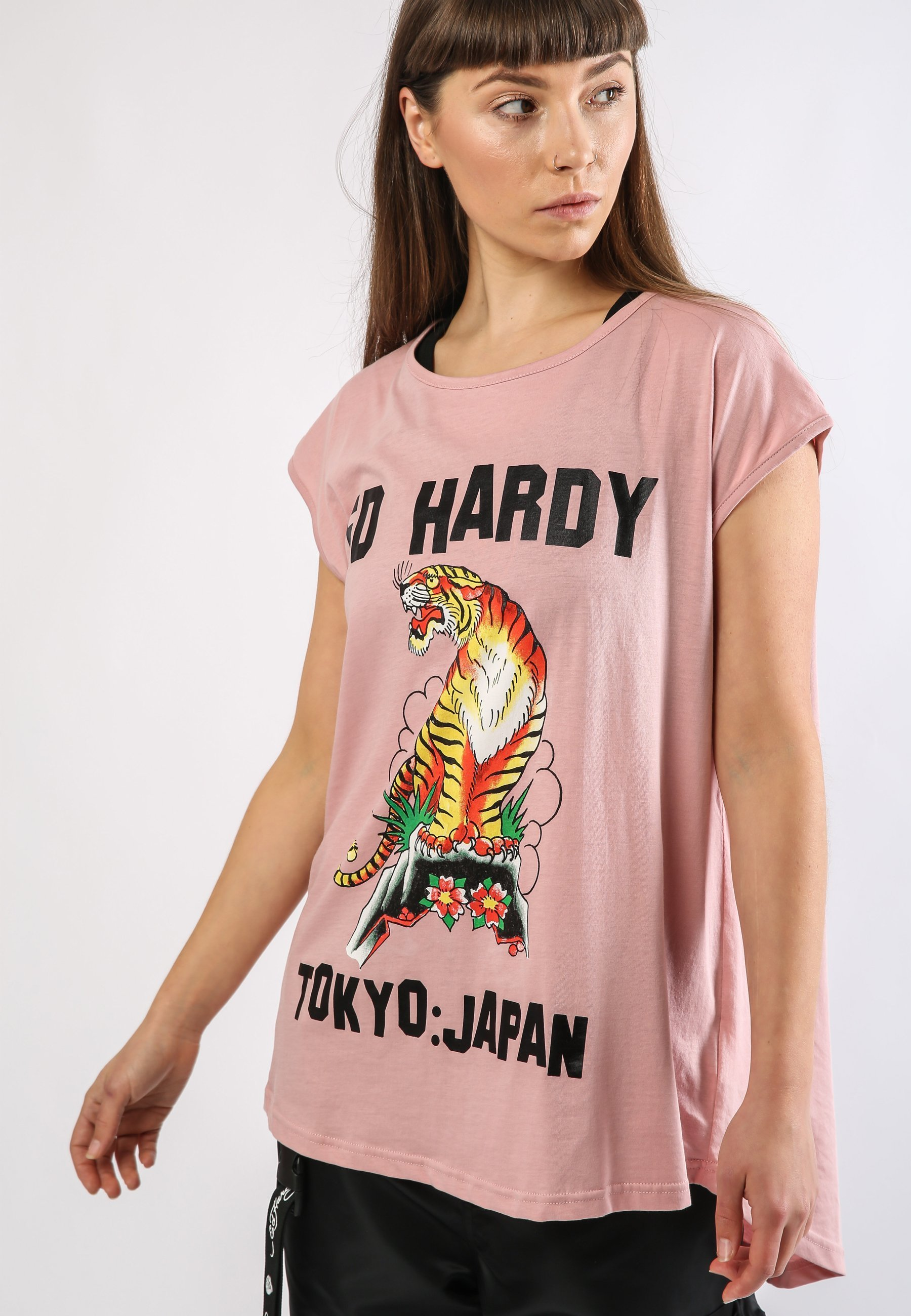 Damen TIGER-MOUNTAIN DIP HEM TEE - T-Shirt print
