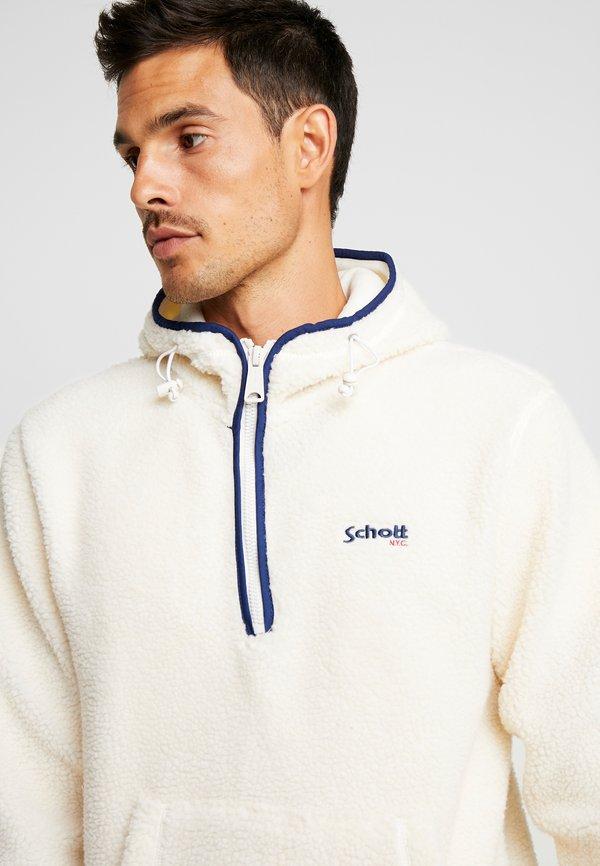 Schott ANDRIC - Bluza z kapturem - offwhite/mleczny Odzież Męska ORVT