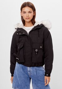 Bershka - Winterjacke - black - 0