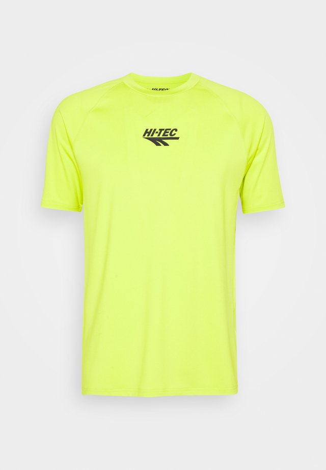 THOMAS BASIC LOGO TEE - T-shirt con stampa - lime punch
